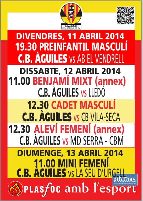 Cartell @cbaguiles 11-12 i 13 d'Abril