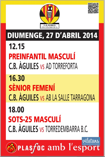 Cartell @cbaguiles 27 d'Abril 2014