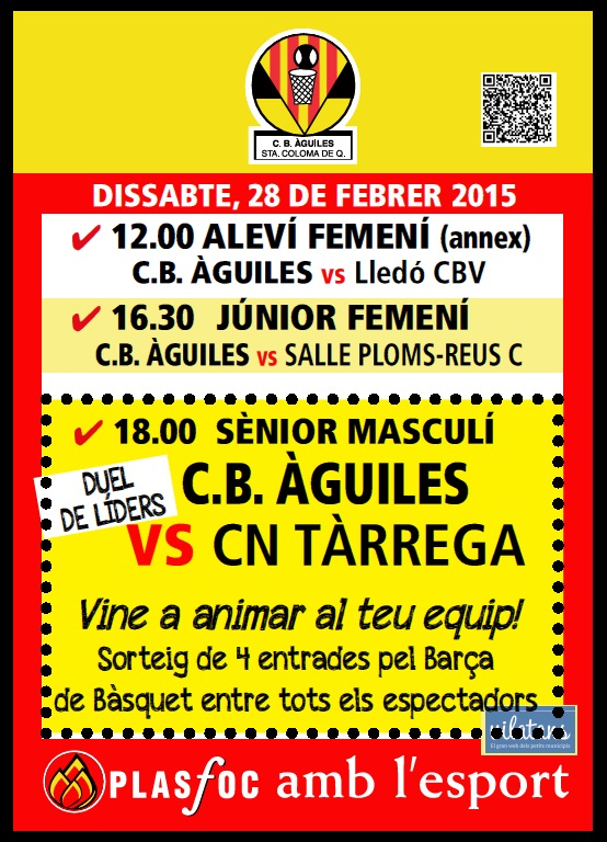 cartell @cbaguiles 28 de Febrer