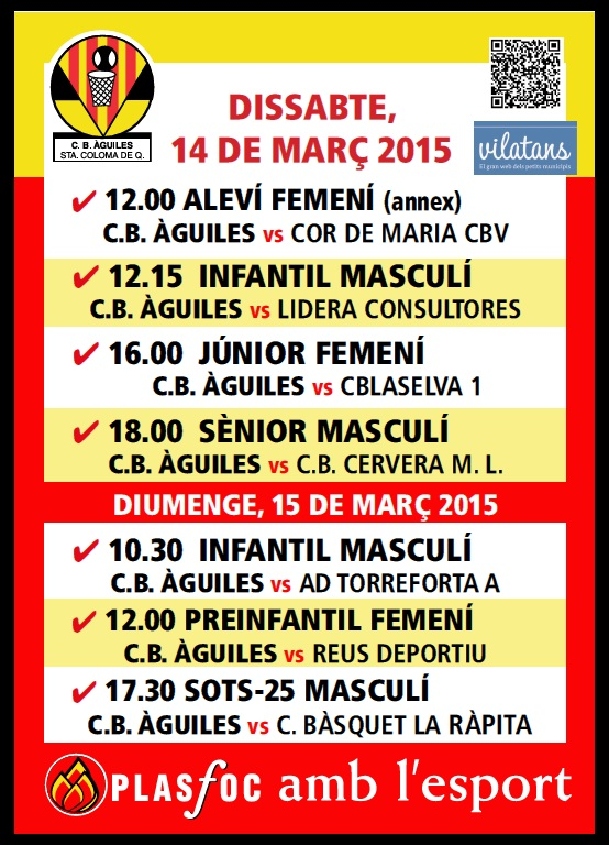 Cartell @cbaguiles 14 i 15 Mar