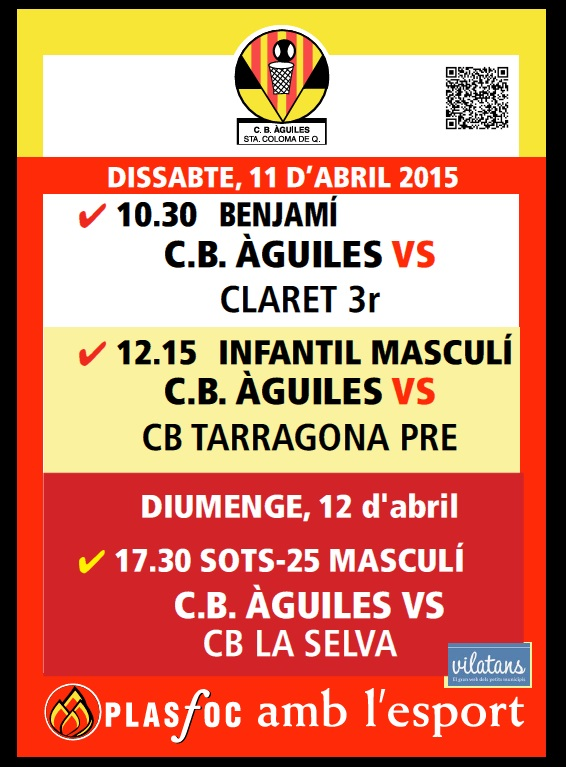 Cartell @cbaguiles 11 i 12 d'abril 2015