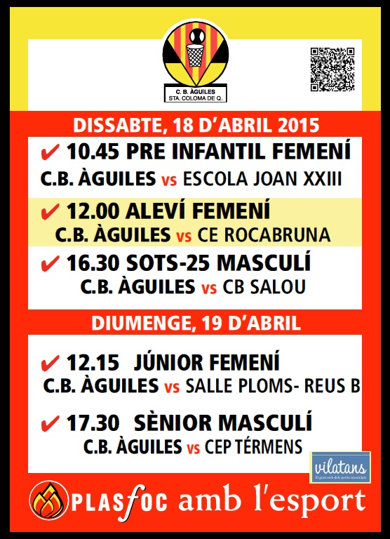 Cartell @cbaguiles 18 i 19 d'Abril 2015