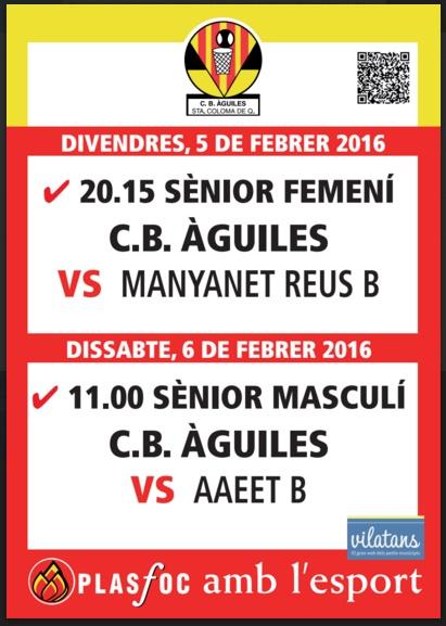 cartell @cbaguiles 5 i 6 de Febrer de 2016